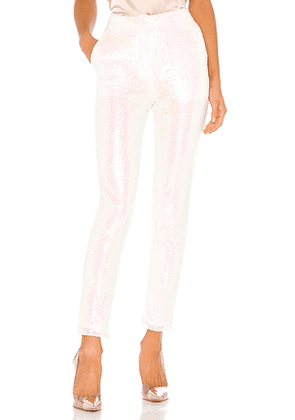 superdown Aviana Flat Front Trouser in White. Size XS.