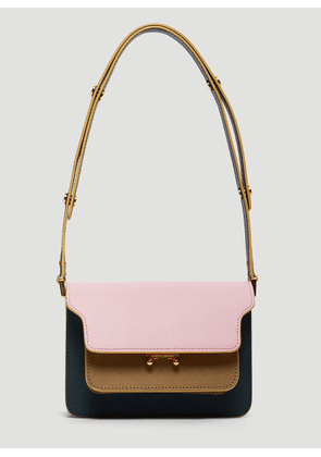 Marni Color-Block Trunk Bag in Pink size One Size