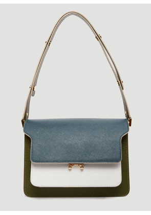 Marni Color-Block Trunk Bag in Green size One Size