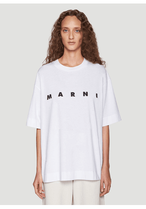 Marni Logo Print T-Shirt in Red size IT - 38