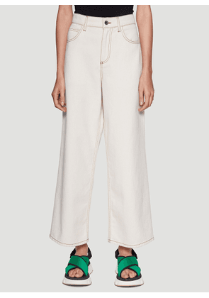 Marni Cropped Jeans in White size IT - 38