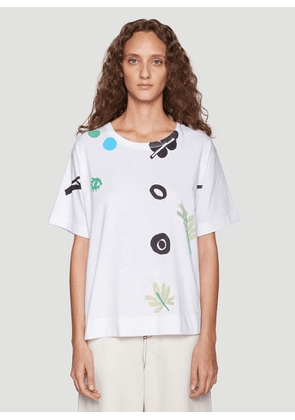 Marni Printed T-Shirt in White size IT - 40