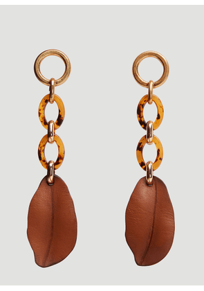 Marni Leaf Earrings in Brown size One Size