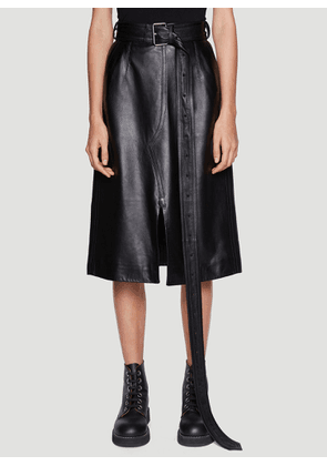 Marni Leather Skirt in Black size IT - 40