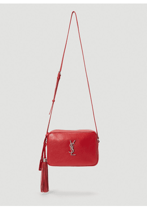 Saint Laurent Lou Monogram Camera Bag in Red size One Size