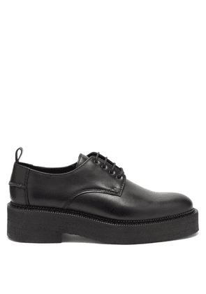 Ami - Chunky-sole Leather Derby Shoes - Mens - Black