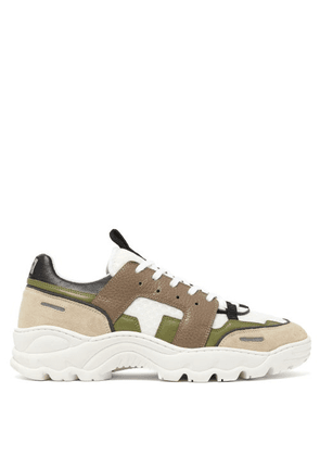 Ami - Running Lucky 9 Low-top Trainers - Mens - Green Multi