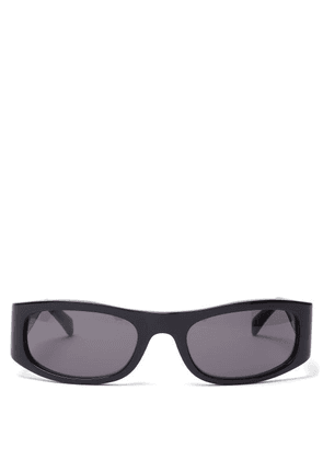 Celine Eyewear - Rectangular-frame Acetate Sunglasses - Mens - Black