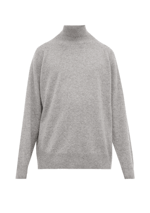 Raey - Loose-fit Funnel-neck Cashmere Sweater - Mens - Grey