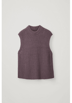 KNITTED COTTON-WOOL VEST