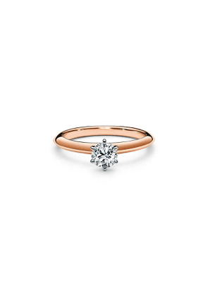 The Tiffany® Setting in 18k rose gold: world's most iconic engagement ring