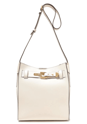 Donna Karan Columbus Buckle-detailed Leather Bucket Bag Woman Cream Size --