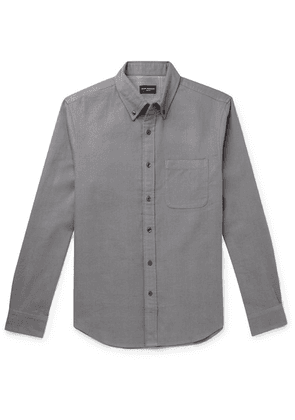 Club Monaco - Button-down Collar Double-faced Cotton-flannel Shirt - Gray