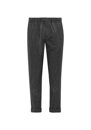 Club Monaco - Charcoal Cuffed Cotton Trousers - Black