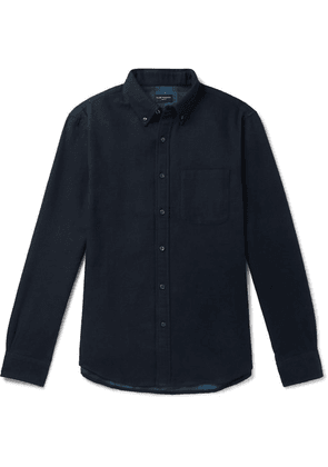 Club Monaco - Button-down Collar Double-faced Cotton-flannel Shirt - Navy