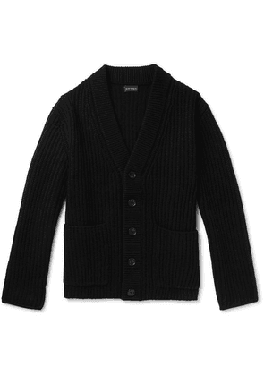 Club Monaco - Ribbed Wool Cardigan - Black