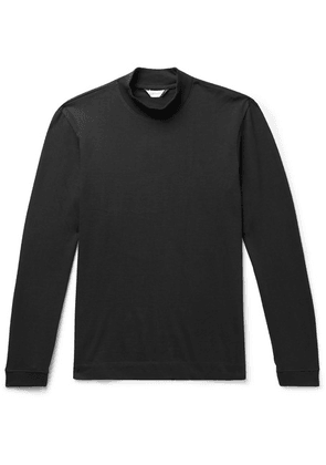 Club Monaco - Cotton-jersey Mock Neck T-shirt - Black