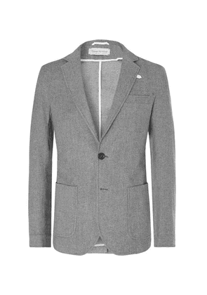 Oliver Spencer - Grey Theobald Unstructured Cotton And Wool-blend Blazer - Gray