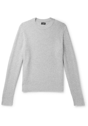 Club Monaco - Basketweave Cashmere Sweater - Light gray