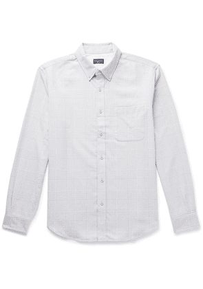 Club Monaco - Slim-fit Button-down Collar Prince Of Wales Checked Cotton Shirt - White