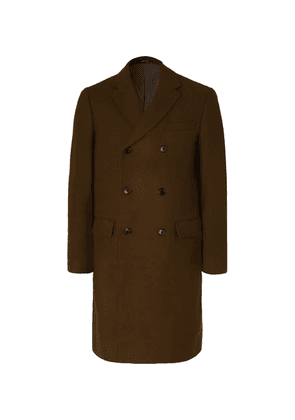 Club Monaco - Double-breasted Wool-blend Overcoat - Army green