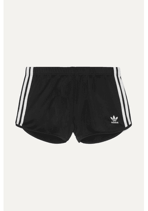 adidas Originals - Striped Satin-jersey Shorts - Black