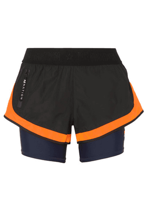P.E NATION - Cadence Shell And Stretch Shorts - Black