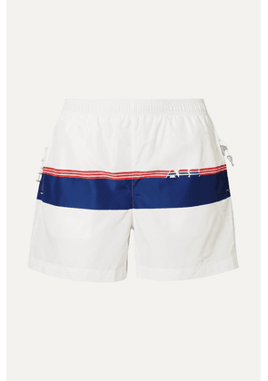 Adam Selman Sport - Printed Shell Shorts - White