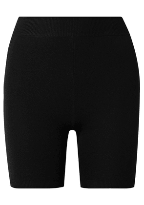 Nagnata - Technical-knit Stretch-cotton Shorts - Black