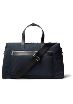 Paul Smith - Leather-trimmed Canvas Holdall - Navy