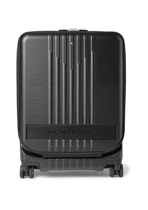 Montblanc - #my4810 Cabin Leather-trimmed Polycarbonate Suitcase - Black