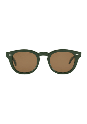 Racing Green Donegal Tweed Acetate Sunglasses with Tobacco Brown Lenses
