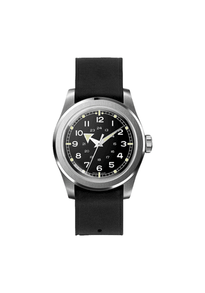 Black Waterproof W.W.W. WMB Edition Serica Watch with Black Leather Strap and Arrow Hands