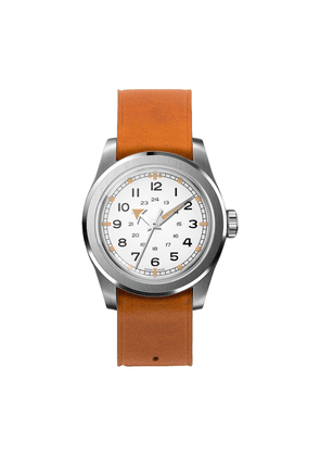 Ivory Waterproof W.W.W. WMB Edition Serica Watch with Camel Leather Strap and Arrow Hands