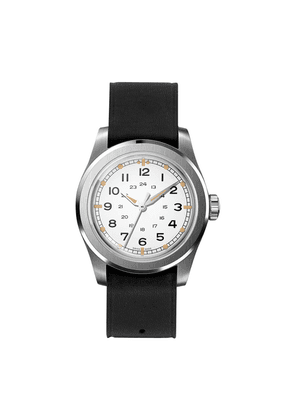 Ivory Waterproof W.W.W. WMB Edition Serica Watch with Black Leather Strap and Alpha Hands