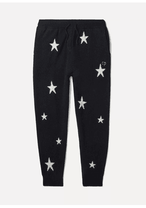 Chinti and Parker Kids - Sizes Xsmall - Large Star Intarsia Cashmere Track Pants