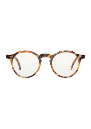 Amber Tortoiseshell Acetate Lapel Optical Eyeglasses