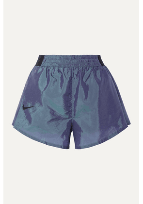 Nike - Tempo Lux Pleated Dri-fit Shell Shorts - Storm blue
