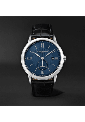Baume & Mercier - Classima Automatic 42mm Stainless Steel And Alligator Watch - Blue