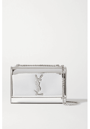 SAINT LAURENT - Kate Small Mirrored-leather Shoulder Bag - Silver
