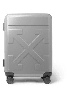 Off-White - Arrow Polycarbonate Carry-on Suitcase - Silver
