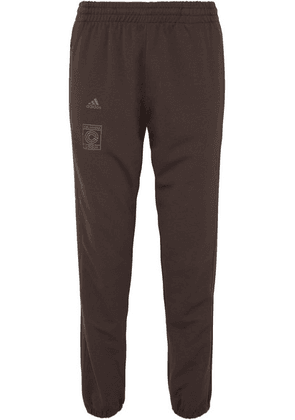 adidas Originals - + Yeezy Calabasas Striped Stretch-jersey Track Pants - Dark brown