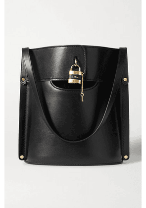 Chloé - Aby Smooth And Textured-leather Tote - Black