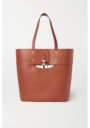 Chloé - Aby Medium Smooth And Textured-leather Tote - Brown