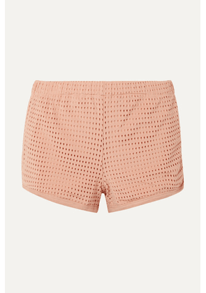Olympia Activewear - Neo Stretch-mesh Shorts - Blush