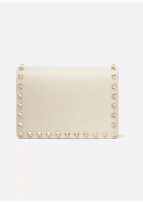 Valentino - Valentino Garavani The Rockstud Leather Shoulder Bag - Cream