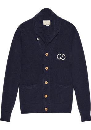 Embroidered Wool Cardigan