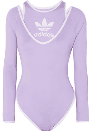 adidas Originals - + Ji Won Choi Layered Striped Stretch-jersey Bodysuit - Purple