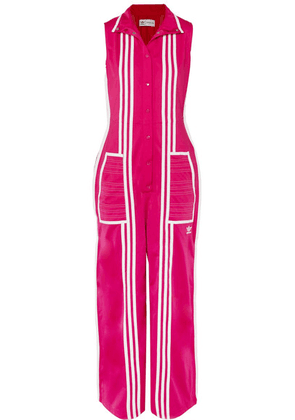adidas Originals - + Ji Won Choi Striped Satin-jersey Jumpsuit - Pink