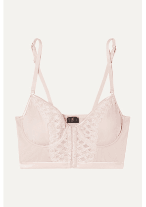 Cosabella - Envy Embroidered Stretch-satin And Tulle Underwired Soft-cup Bra - Blush